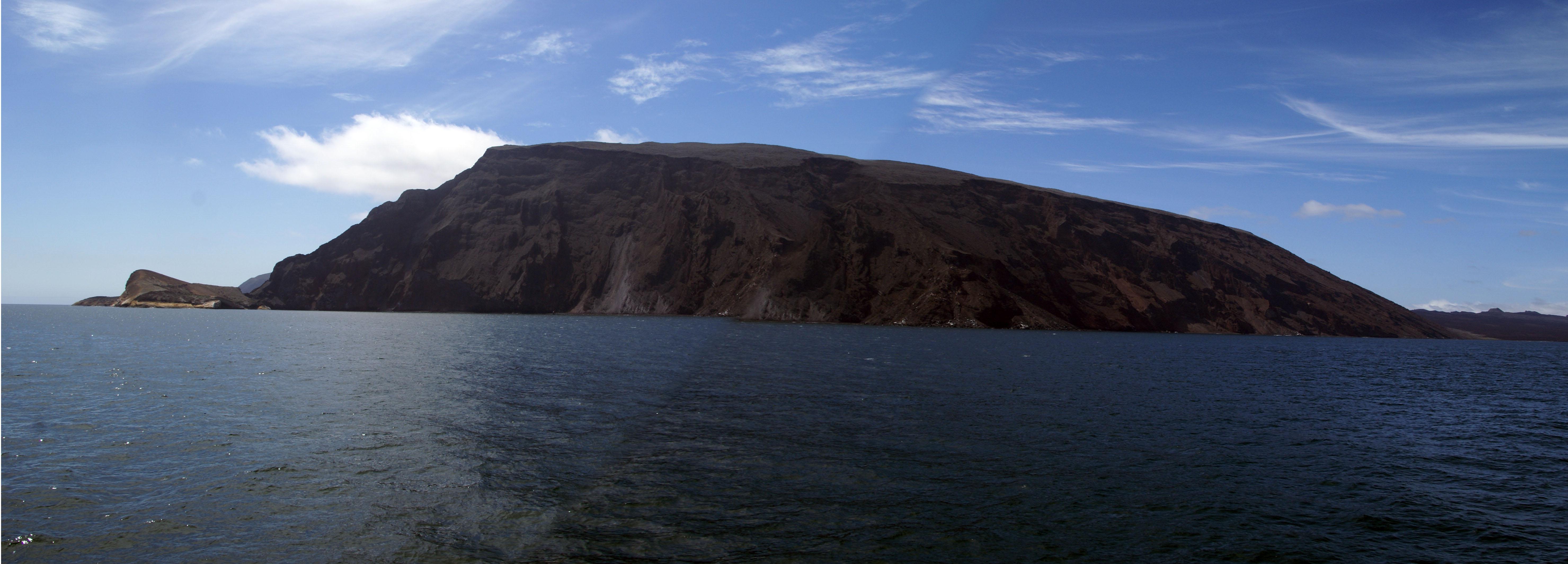 La Cumbre Vulkan auf dem Galapagos Archipel aktiv