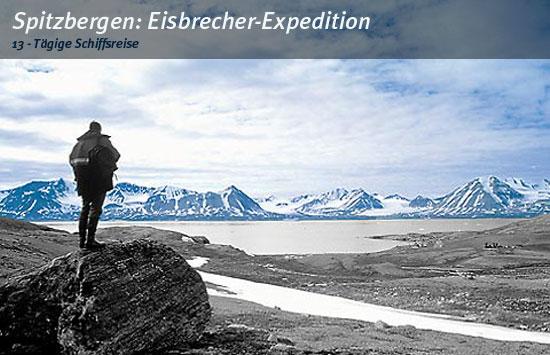 Spitzbergen mit einem Meeresforschungsschiff